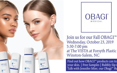 Join Us for Our OBAGI Event on Wednesday, October 23 from 5:30-7:00 pm