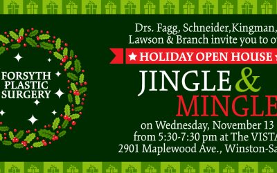 Join us for our Holiday Open House Jingle and Mingle on Wednesday, November 13 from 5:30-7:30 pm