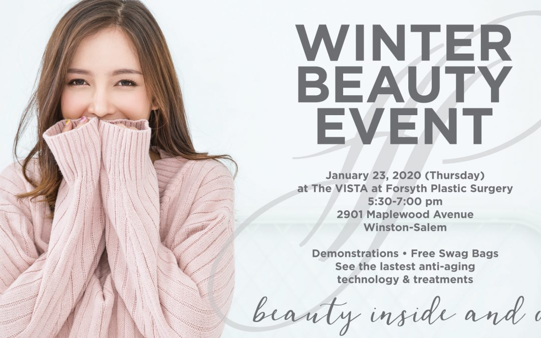 Join Us for Our Winter Beauty Event – January 23, 2020 from 5:30-7:00 pm